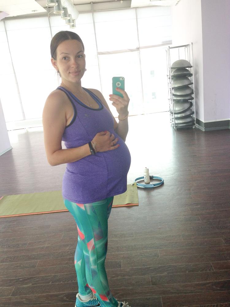 Тренировка для беременных в тренажерном 18